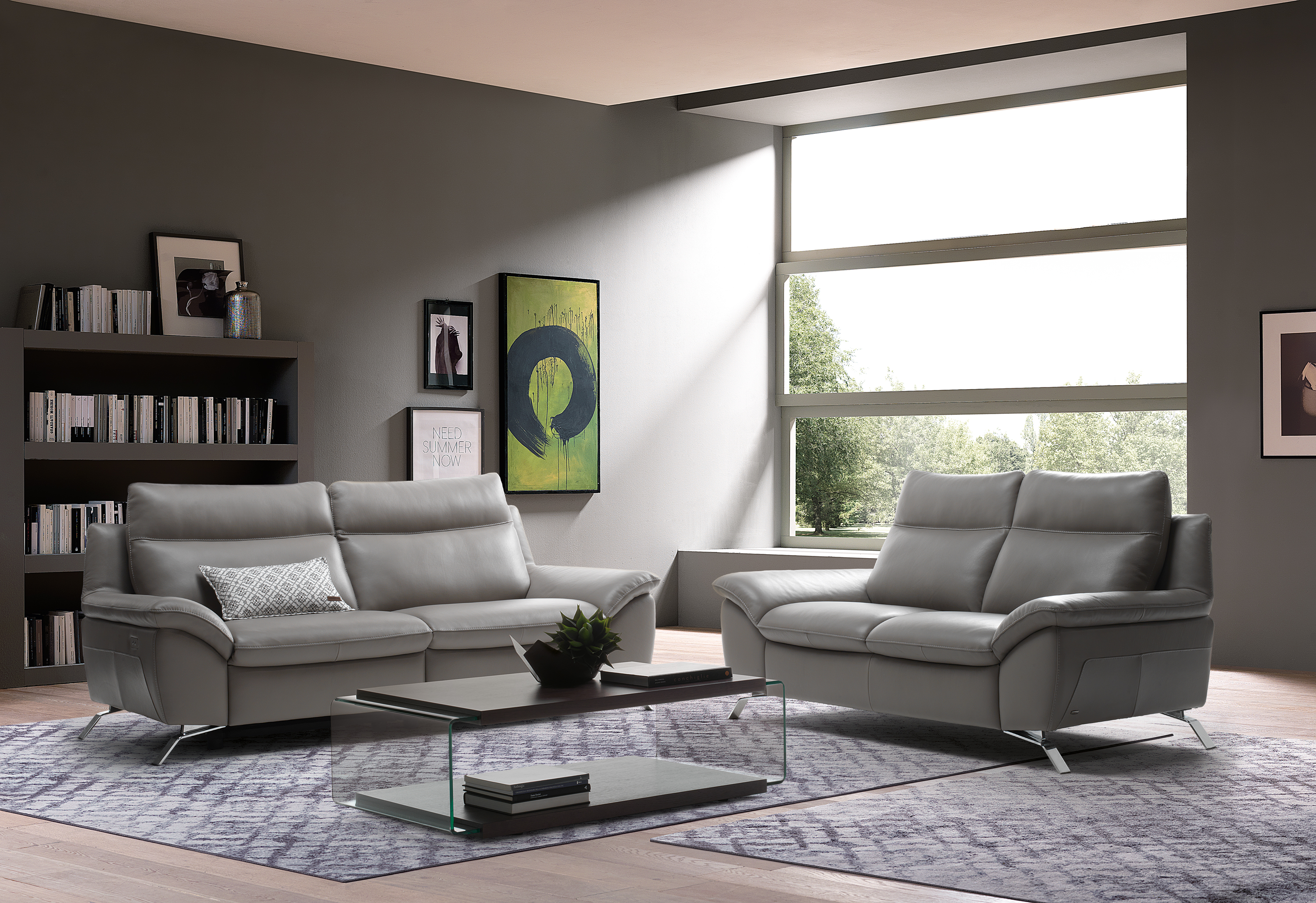 Living room milano home furnishings for Home furniture living room